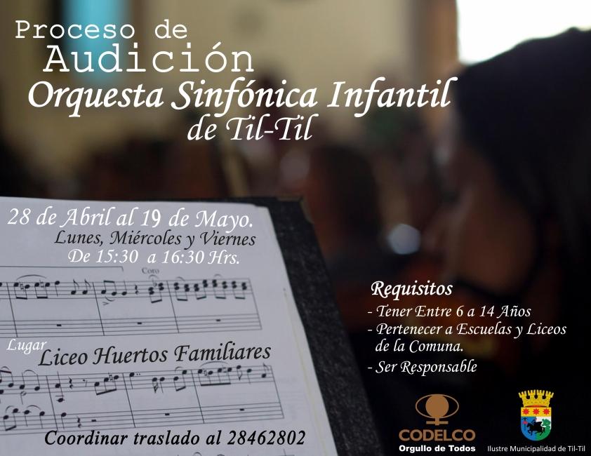 AUDICIÓN ORQUESTA SINFÓNICA INFANTIL DE TIL TIL